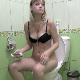 A blonde, Eastern-European girl sits down on a toilet. She pushes, and some plops are heard shortly afterwards. She sits there playing with her phone trying to push more out, but only small farts come out. Presented in 720P HD. Over 6 minutes.